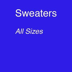 Other - sweaters - cotton, wool, any fabric or style
